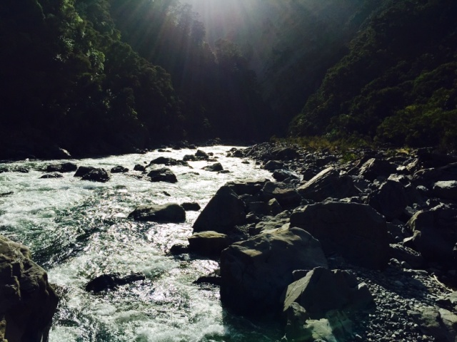 Entering challenging the Ngaruroro River Gorge